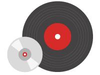 Icono de Fabricación y Edición de música en CD y Vinilo