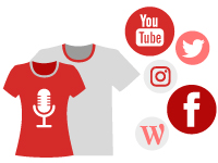 Icono de promoción y merchandising de música
