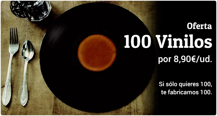Oferta tirada de 100 Vinilos