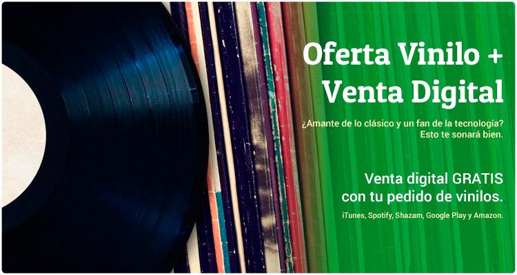 Oferta Venta Digital gratis con pedidos de Vinilos LP