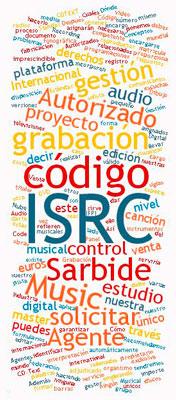 Código ISRC nube de palabras