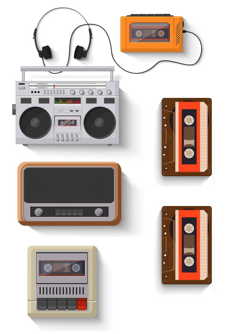 reproductores de cassettes gestion de códigos de barras