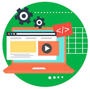 Ilustración creación web