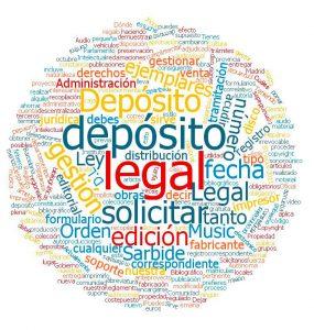 gestión Depósito Legal música nube de palabras