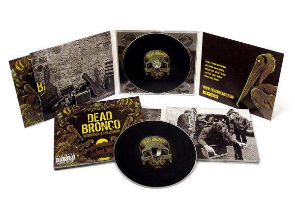 Digipack 3 Cuerpos con CD Vinilo y bandeja en el centro - Dead Bronco