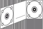 Icono Digipack-3-cuerpos-2-bandejas-ranura-centro