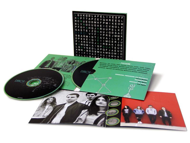 Funda Gatefold con disco en bolsa con uñero - Dekot