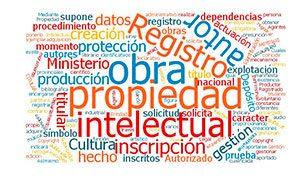 Nube de palabras de la Propiedad Intelectual