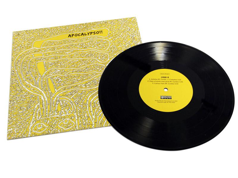 """Fabricación de Vinilo LP 10"""" - Apocalypso"""