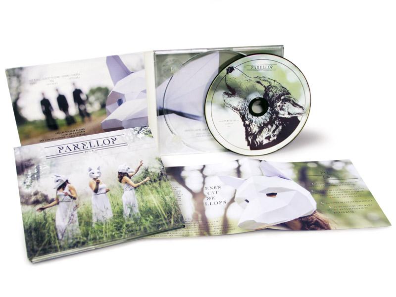 Digipack 2 Cuerpos con CD y bandeja transparente - Parellop