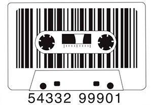 cassette con código de barras