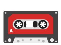 Icono de fabricación de cassette