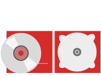 Icono de Fabricación y Edición de CD