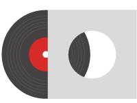 Icono de fabricación de vinilo LP