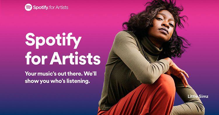 Imagen perfil de artista en Spotify