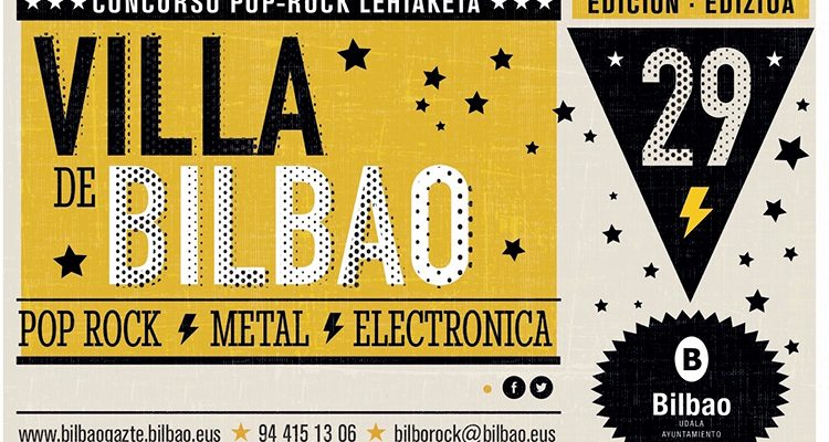 Cartel del Concurso Pop-Rock Villa de Bilbao 2017