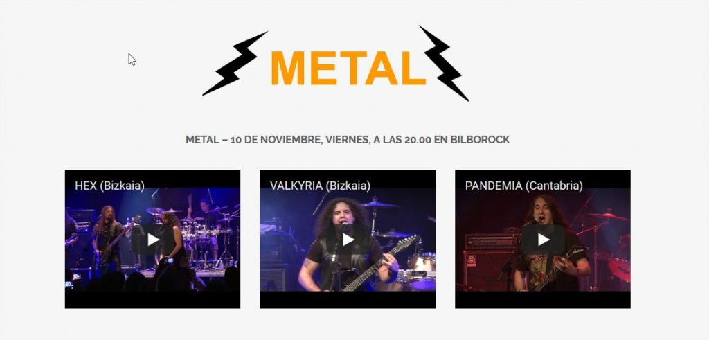 Finalistas Pop Rock Villa Bilbao Metal