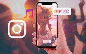 Distribucion musica Instagram